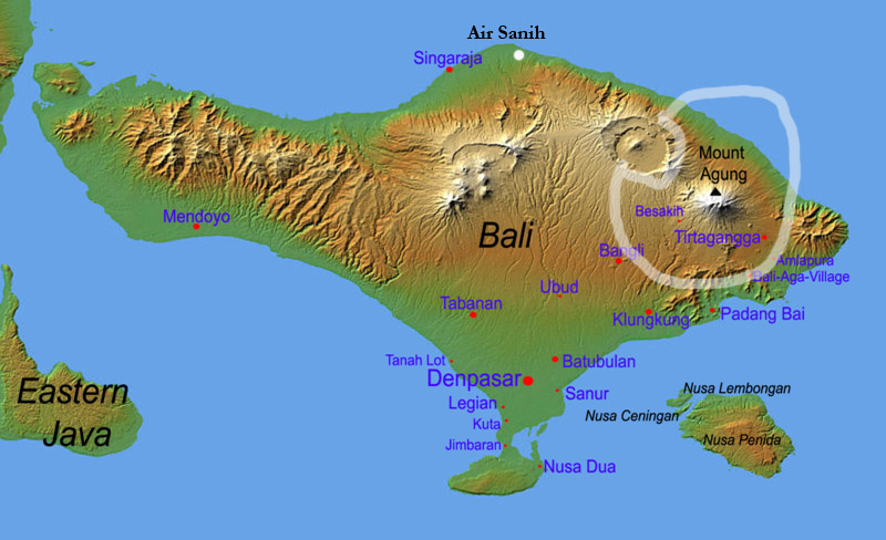 Karte Bali - Map Bali