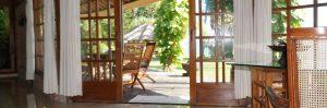 Villa Ost Blick zur Terrasse