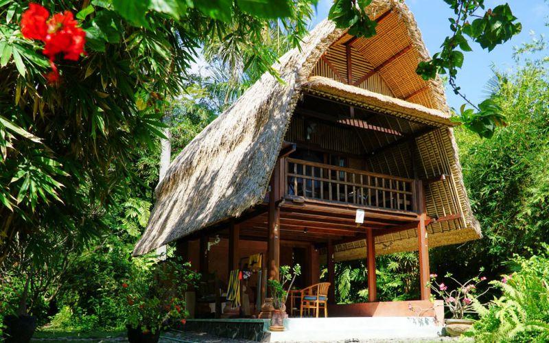 Bungalow im balinesischen Stil