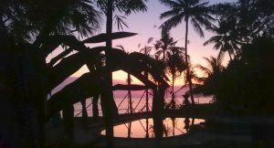 Nach der Buchung - Pool im Morgenlicht auf Bali